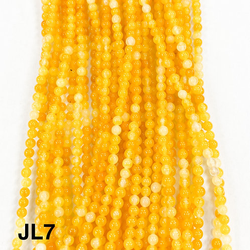 Dyed Jade Opaque Yellow Color 3mm
