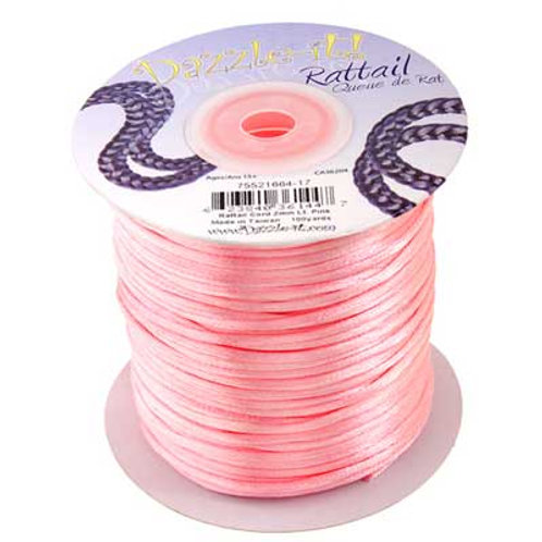RATTAIL CORD 2mm Lt.Pink 100y