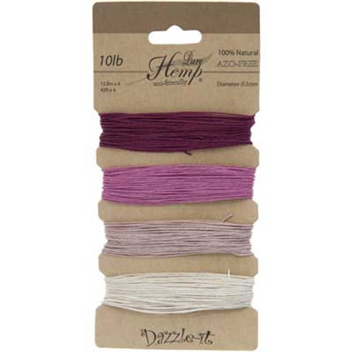 Hemp 100% 0.5mm 10lb Shades of Ruby