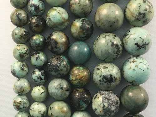 Natural African Turquoise Beads 8mm
