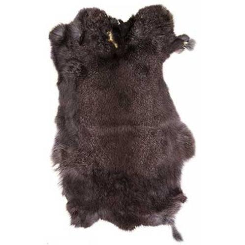 Rabbit Fur Skin Black Aprox.