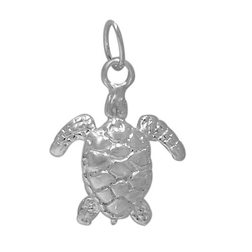 925 Detail Turtle Charm 13mm