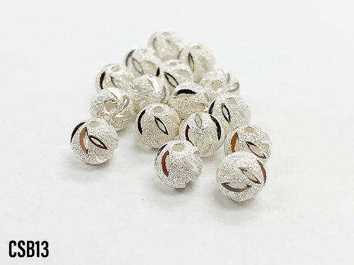 925 Dusted Cut Bead 6mm