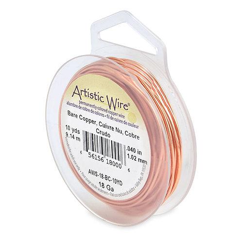 Bare Copper Wire 18g 10yd