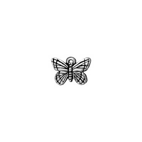 T.C. CHARM MONARCH B-FLY ANT. SILVER 5pc
