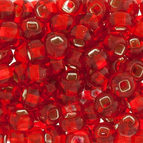 Czech Seed Beads  2/0 S/L TR.LT.RED