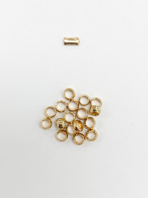 3mm Light Gold Crimp Beads
