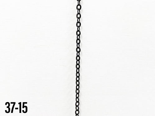 Brass Flattened Cable Chain Black (yard)
