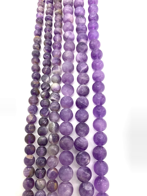 Natural Matte Amethyst Beads 6mm
