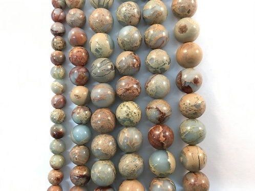 Natural Aqua Terra Jasper Bead 8mm