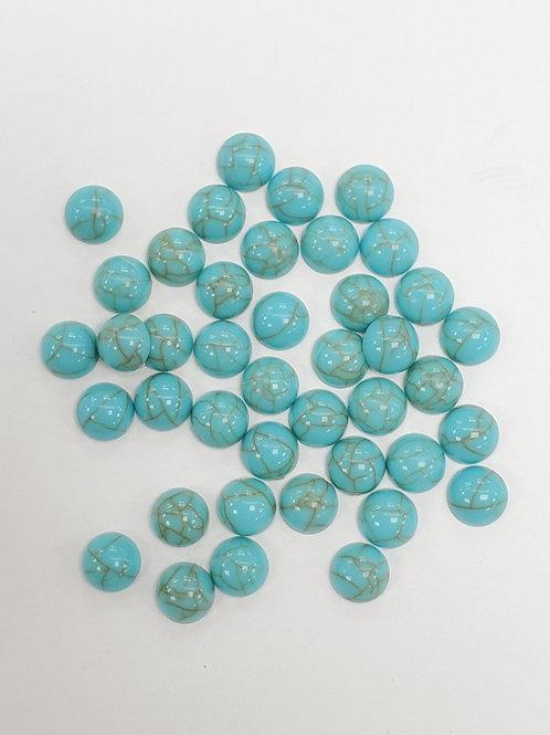 6mm Round Plastic Turquoise Embellishment