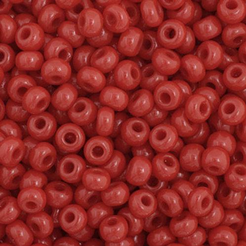 Czech Seed Beads  11/0 Dark Red OP.