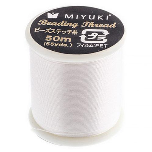 Miyuki Nylon Beading Thread B White