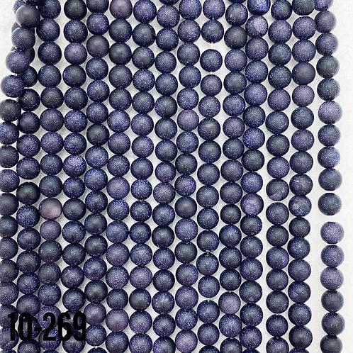 Matte Blue Gold Stone 8mm