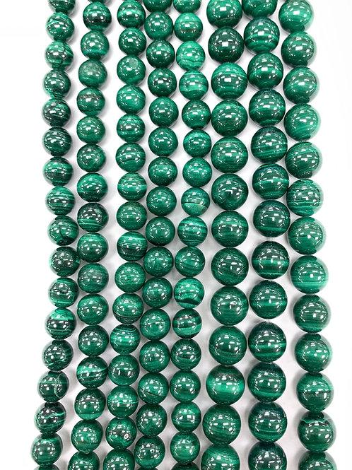 Natural Malachite Beads 8mm