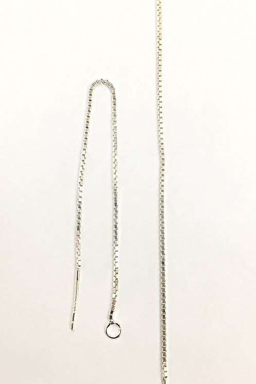 925 Ear Pin With 77mm Box Chain Sold In Pairs