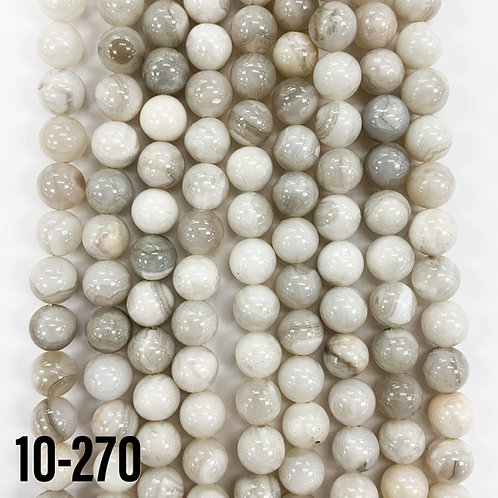 White Banded Agate 6mm