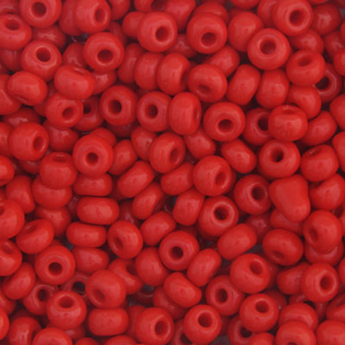 Czech Seed Beads 6/0 OP. MEDIUM RED