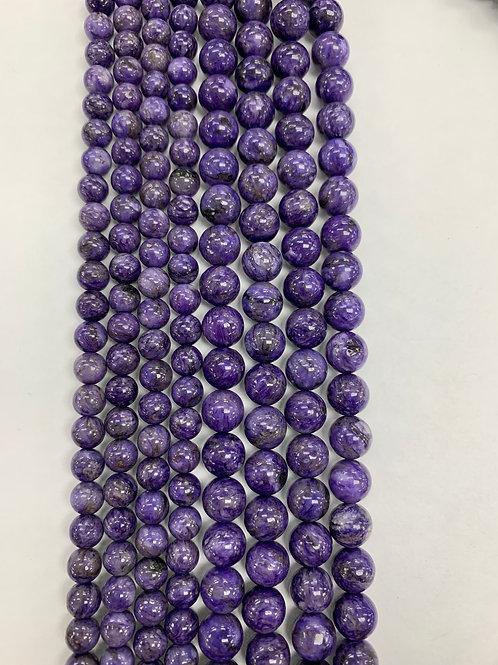 Natural Charoite Beads 6mm