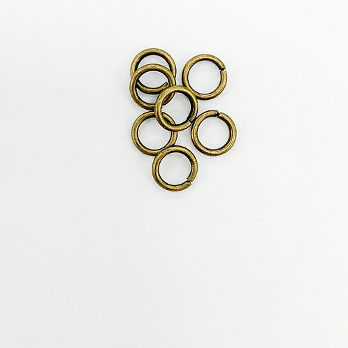 6mm x 1mm T Antique Brass Open Jump Ring