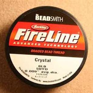 8lb Fireline Beading string 50yd Crystal