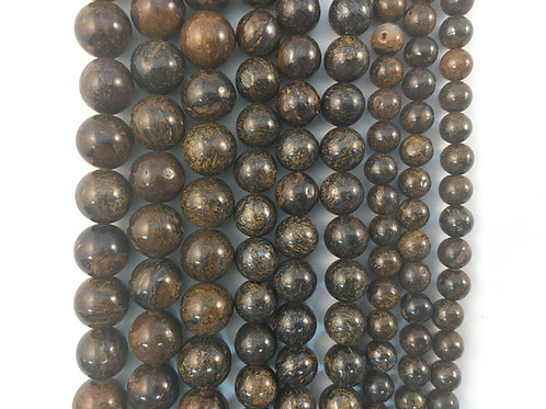 Natural Bronzite Beads 10mm