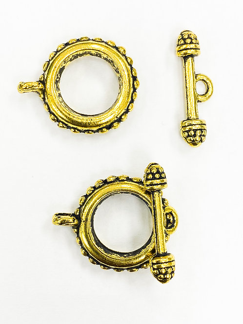 23mm Antique Yellow Gold Toggle