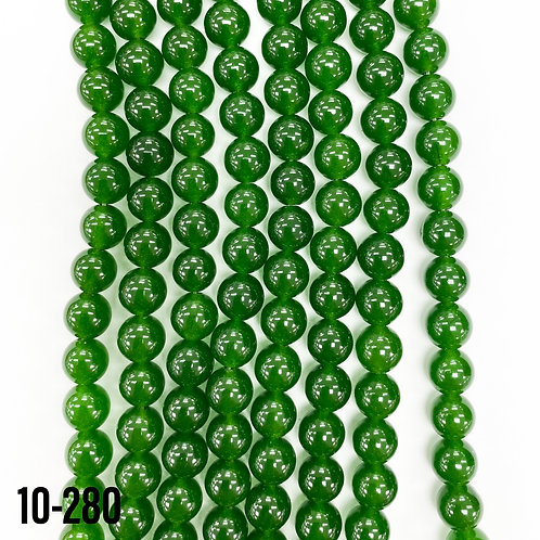 Dyed Green Jade 6mm