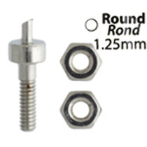Metal Complex Replacement Pins 2 Sets Round 1.25mm