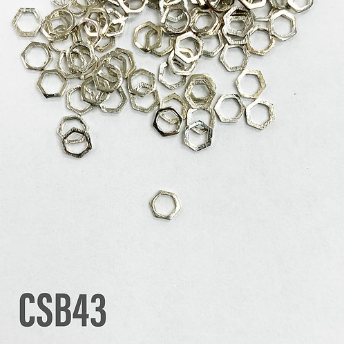 925 Hexagon Shaped Spacers 4mm