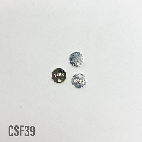 925 Round Silver 925 Tags