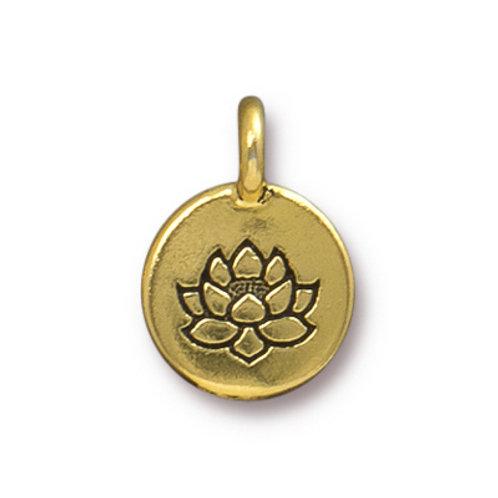 T.C. Charm Lotus Antique Gold 5pcs