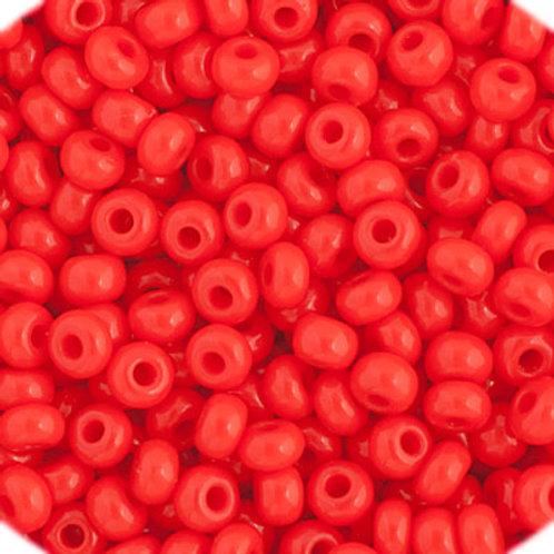 Czech Seed Beads  11/0 LT. Red OP.