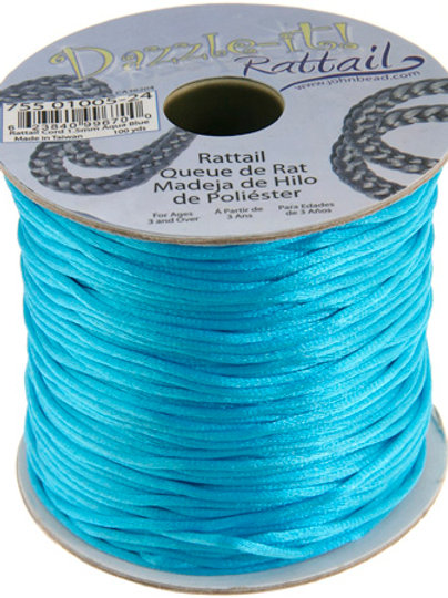 Rattail Cord 1.5mm Aqua Blue 100yds