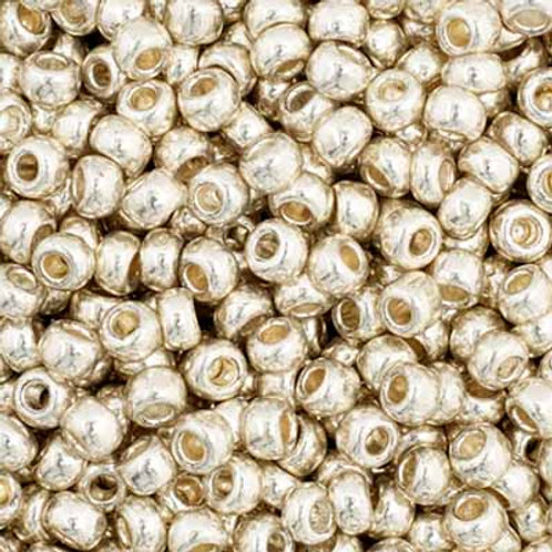 Czech Seed Beads  11/0 Silver MET.