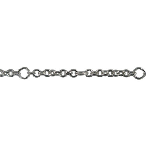Oval Link Unfinished Chain Sold By The Foot.