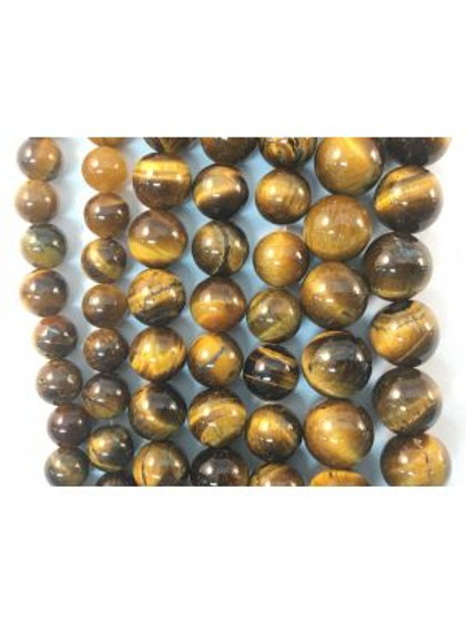 Natural Tigers Eye Beads 6mm