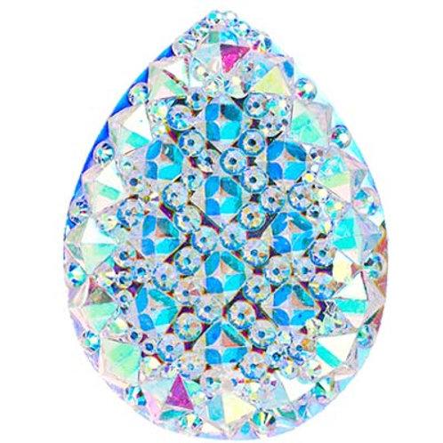 Glitz Resin Sew-on Gummy Spike Crystal AB