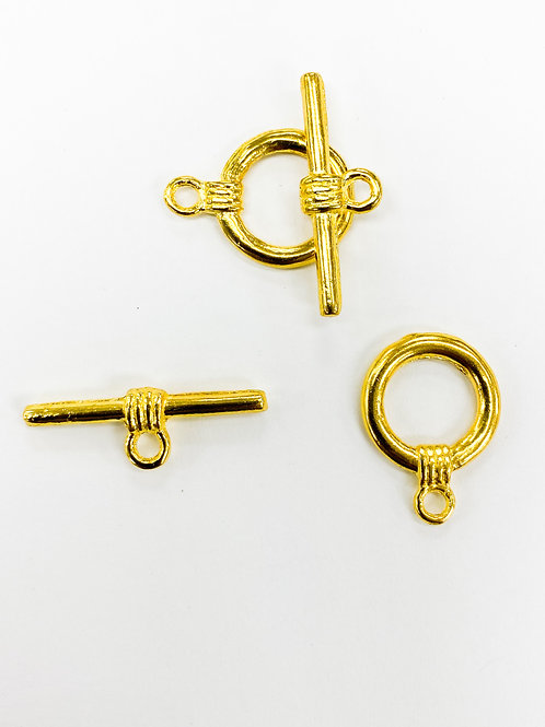 18mm Yellow Gold Toggle