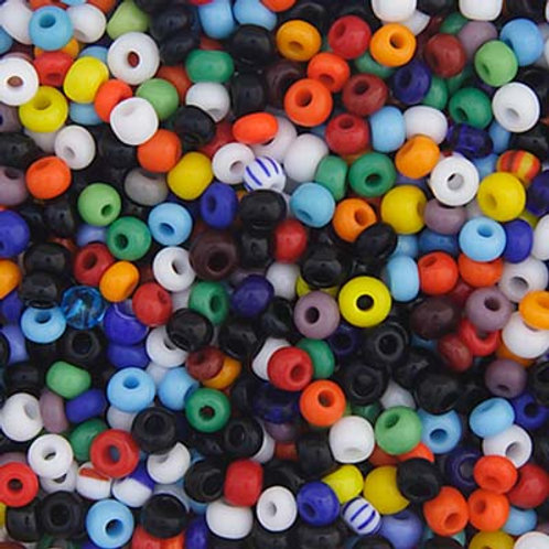 Czech Seed Beads 8/0 OP. ASSORTED