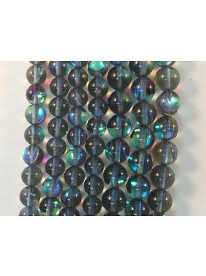 Black Moon Light QZ (Man-Made) Beads 8mm