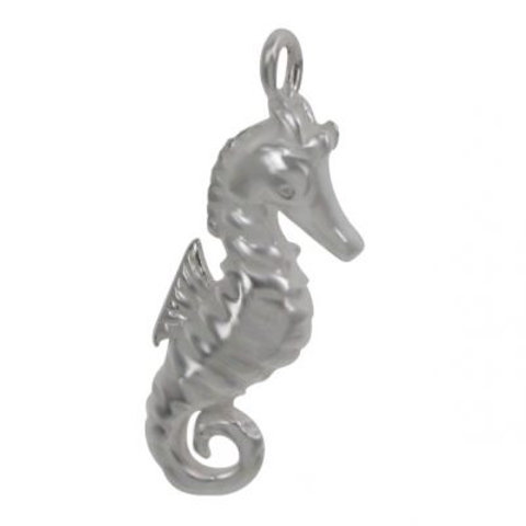925 Shiny Seahorse Charm With 2mm Loop