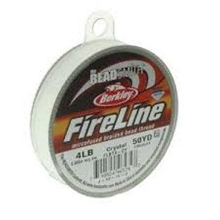 4lb Fireline Beading string 50yd Crystal