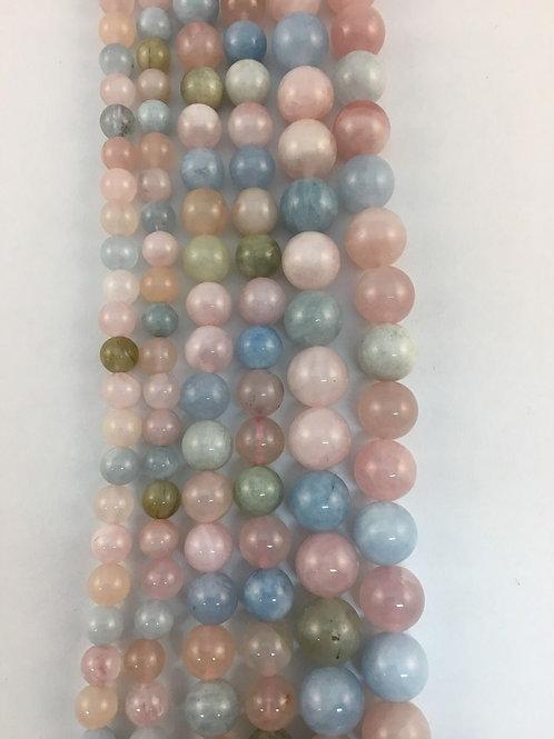 Natural Morganite Beads 6mm