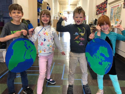 First Grade Blue Marble Project