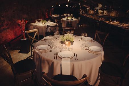 Middagsdukning i Bergrummet på Skeppsholmen