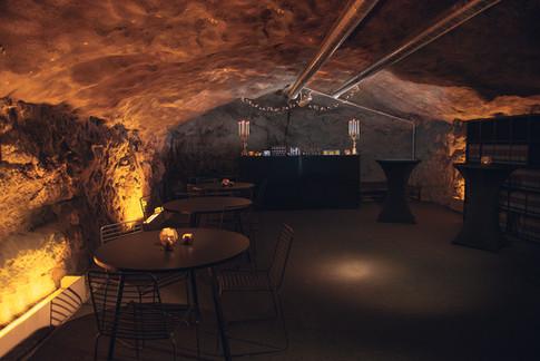 Efterfest med bar i Bergrummet på Skeppsholmen