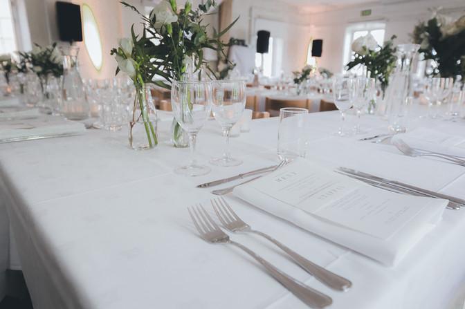 Dukat bord i Segelsalen på Skeppsholmen