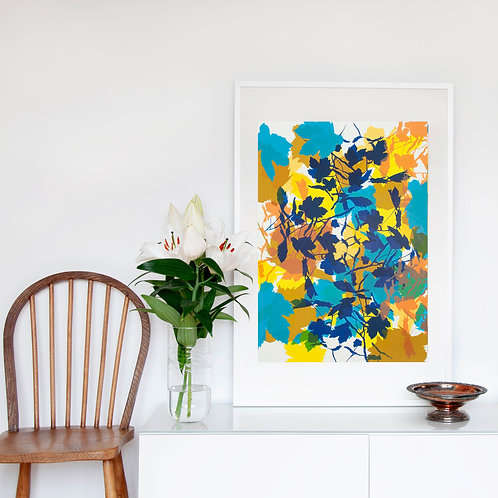 7. Bright Yellow and Midnight Blue 76 x 56 cm