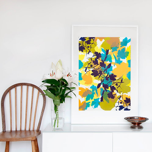 2. Bright Yellow and Midnight Blue 76 x 56 cm